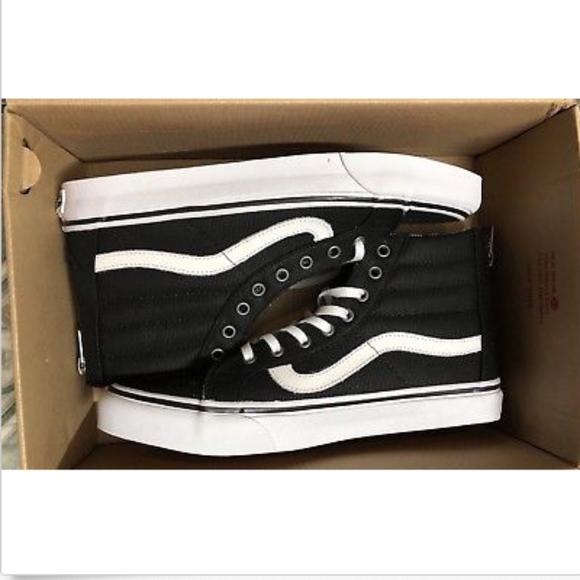 d99b26b6355e Vans Sk8 Hi Slim Zip Tweed Dots Black True White